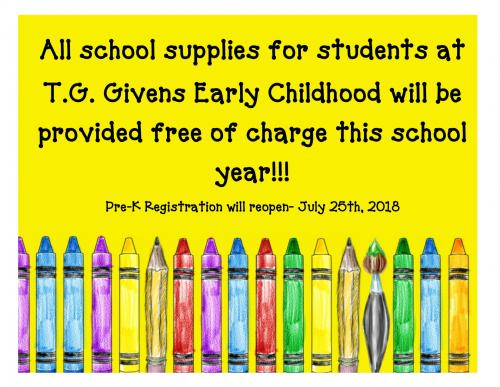 School supply information for Givens