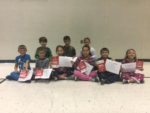 1st nine Weeks AB Honor Roll and Principal List  2nd Grade  AB Honor Roll Front Row: Tate Touchet, Parker Abshire, Kodie Johnson, Gia Martin, Grant Faulk and Seava McMinn Principal List Back Row: Jaxson Viator, Logan Trahan and Carrley Bertrand
