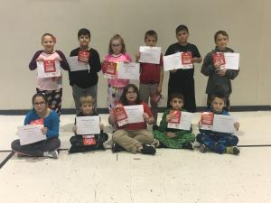 1st nine Weeks AB Honor Roll and Principal List 4th Grade AB Honor Roll Front Row: Rylee Abshire, Caleb Courville, Tabitha Cox, Collin Trahan, Ronald Mouton AB Honor Roll back Row: Adelynn Turner, Ryder Istre, Erica Legros, Dustin Hebert, and Holden Smith