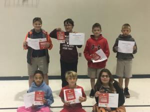 1st nine Weeks AB Honor Roll and Principal List 5th Grade AB Honor Roll Front Row: Riana Harris, Christopher Benoit, and Reina Petry AB Honor Roll Back Row: Braxton Lege, Layne Porter, Isaac Walton Principal List Back Row: Trey Toups