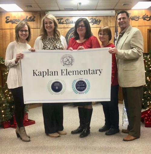 Kaplan elementary was recognized for being a Top Gains School.