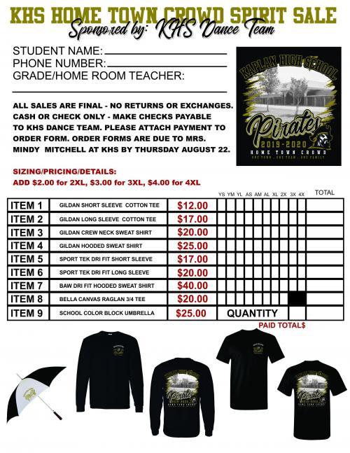 shirt sale form