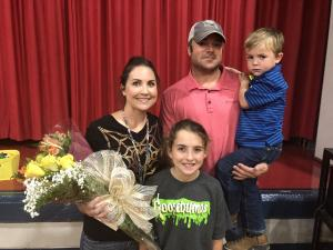 Mrs. Nicole Broussard has been named the Meaux Elementary Teacher of the Year (2020).  The announcement was made public on Wednesday, October 31, 2018. Mrs. Nicole's family made a surprise appearance for this special event. Congratulations, Mrs. Nicole!