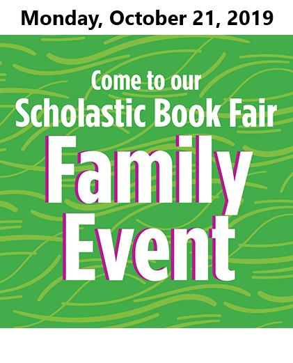 Book Fair Family Event October 21, 2019