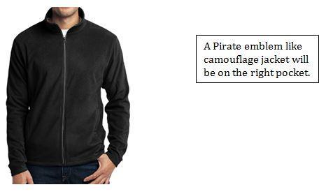 Solid black uniform jacket