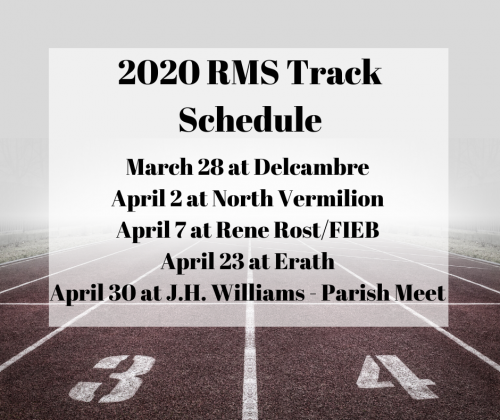 2020 RMS Track Schedule