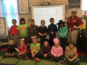 Red Ribbon Week Day 3: What Do You Want to be When You Grow Up?  Baseball player, cheerleader, hunter, store manager, judge, cowgirl, engineer, biker, librarian, cheerleader, cowboy, pastry chef, and a fisherman