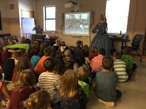 Ms. Judy came from the Shiloh Museum to speak to us about life back in the late 1800's and 1900's!