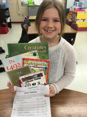 This girl has worked SO HARD on her Genre Challenge and has finished it in a couple weeks!