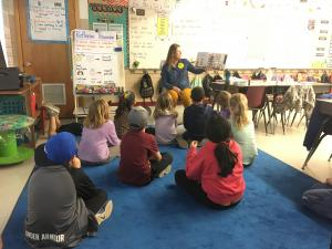 Thank you Mrs. Shott  for coming and reading to us for Read Across America Day!