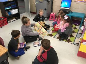 5th graders came to read to us!
