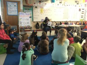 Thank you Ms. Leftwich for coming and reading to us for Read Across America Day!