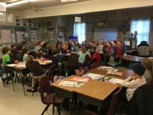 Kindergarten visited to sing Christmas Carols!