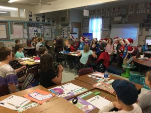Kindergarten visited to sing Christmas Carols!