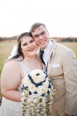 My husband and I at our wedding on November 18, 2017.