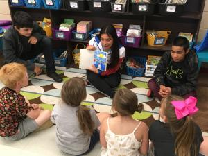 Mr. Taylor's class came to read their personally written & illustrated picture books with us!
