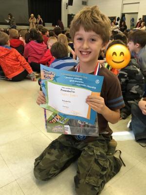 Terrific Kid Award at the Eagle Rally!