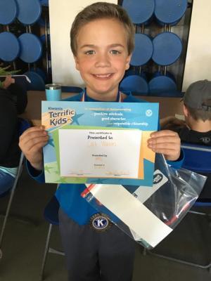 Terrific Kid Award! Great job Colt!