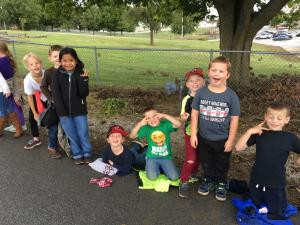 Waiting for the Homecoming Parade to begin!!