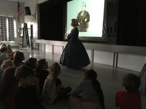 Guest speaker from Shiloh came to share Pre-Civil War/ Civil War Era info for Black History month!
