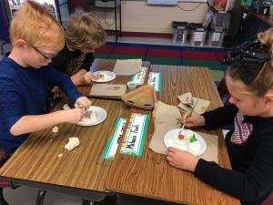 Painting our water & landforms!