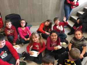 Cookies after singing at the Courthouse!