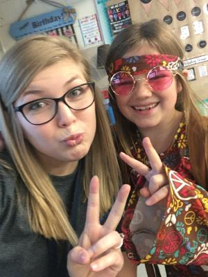 Red Ribbon Week Day 2: Decade Day! This girl went all out!!