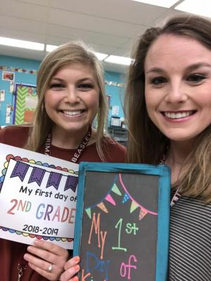 Mrs. Kiihnl & Miss Lovin's First Day of School Picture!
