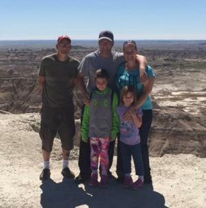 Family at Badlands, South Dakota