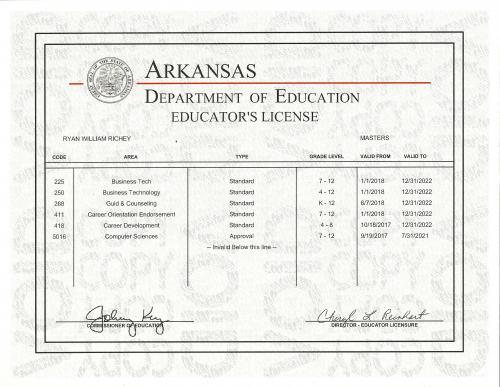 Arkansas Teachers License