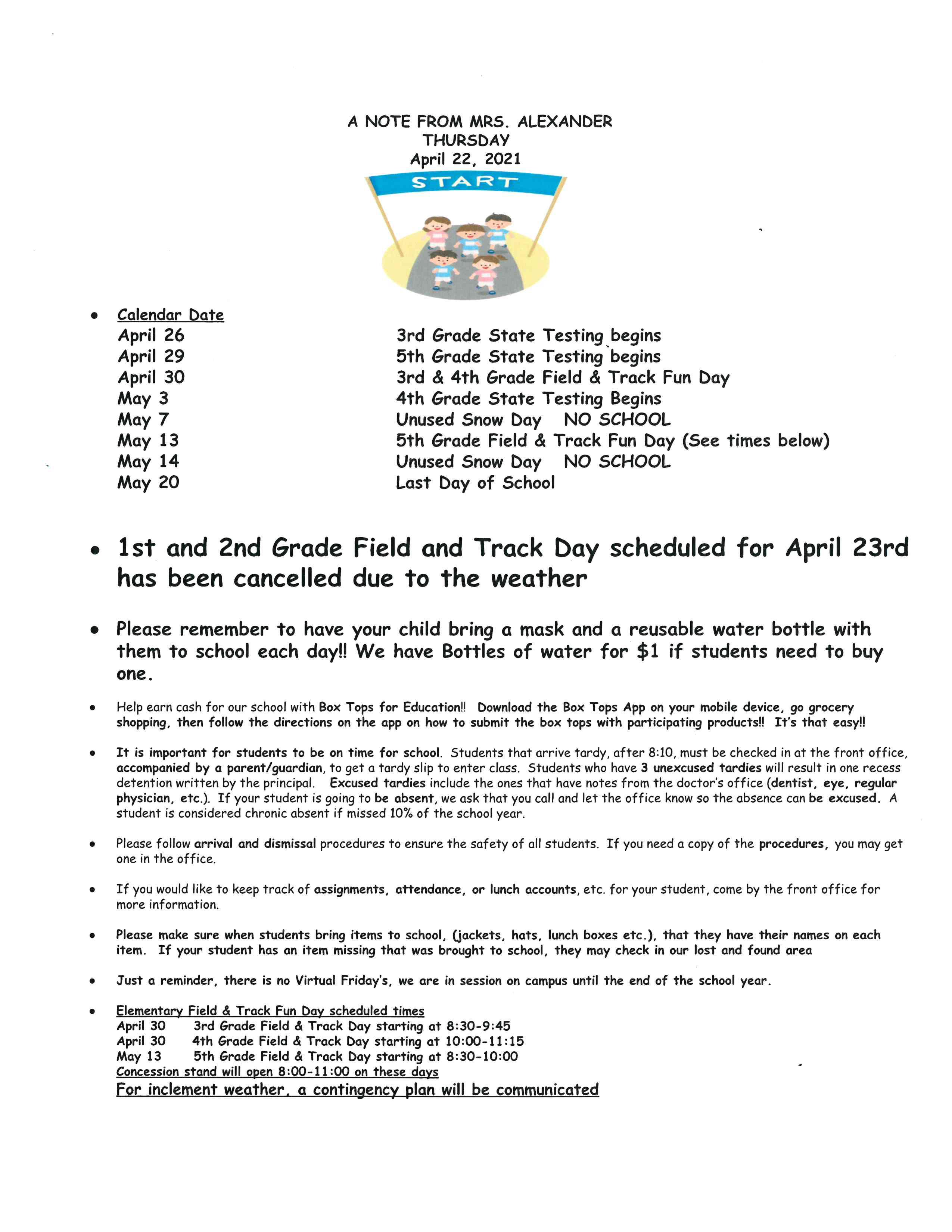 Thursday Folder Note