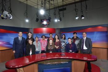 A/V Students visit KRGV TV station