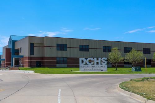 Landscape View facing Dodge City High School