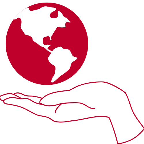 globe and hand icon