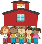 school house with children