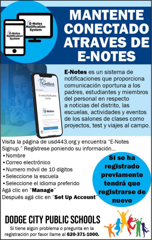 Spanish E-Note Flyer