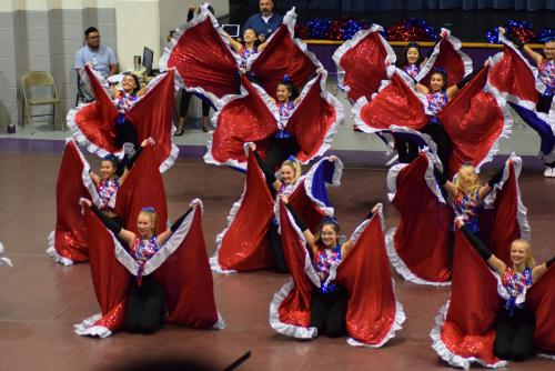 DCHS Drill Team at Welcome BAck