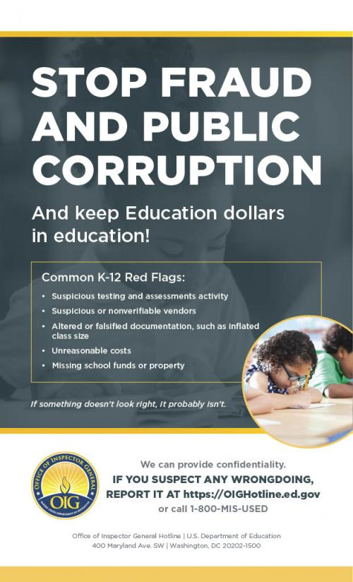 OIG Report Fraud Poster