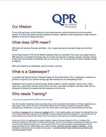QPR Suicide Prevention