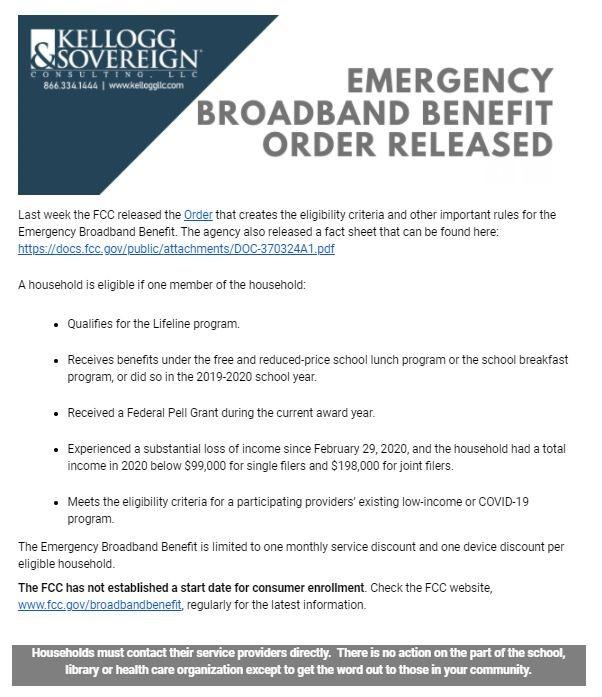Emergency Broadband