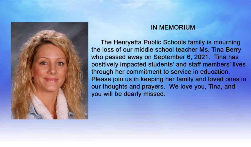 Ms. Berry Memorium