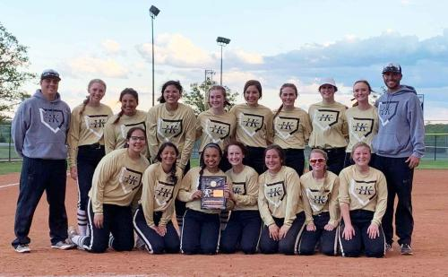 HHS Lady Knights 2019 Softball District Champions