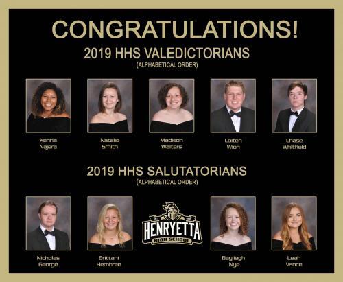 2019 HHS Valedictorians & Salutatorians