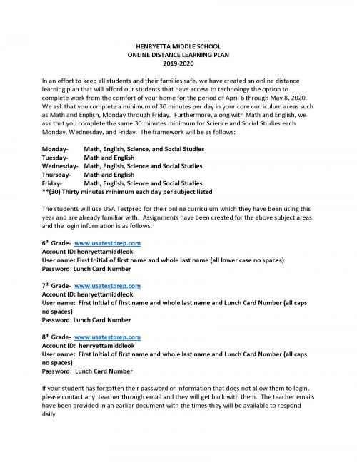 MS Learning Plan with logins pg 1
