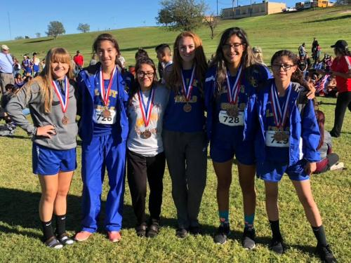 Varsity Lady Owls District Meet