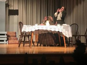 SHS UIL One Act Play cast performs The Miracle Worker using unit set purchased through SEF grant