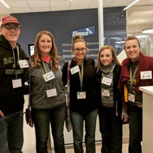 FFA officers and sponsor Mrs. Pool attending Elanco Animal Health presentation