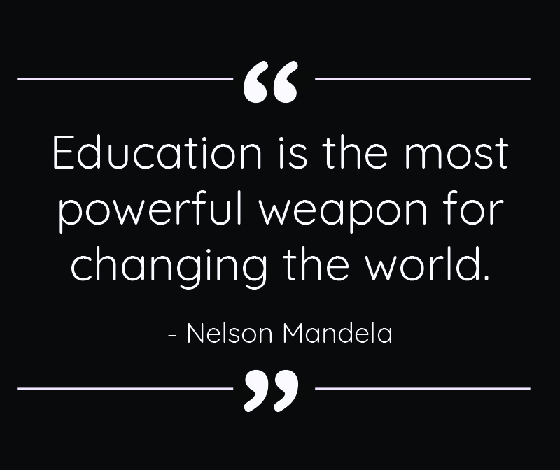 education is powerful graphic