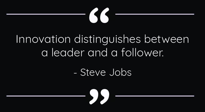 Innovation Quote Steve Jobs