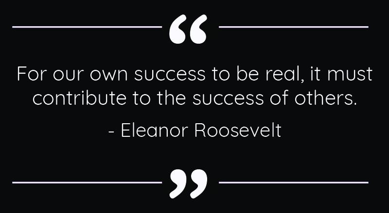 Eleanor Roosevelt Quote - Success